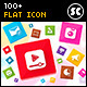 100 Flat Icons - GraphicRiver Item for Sale
