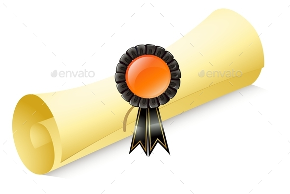 GraphicRiver Scroll of Paper with a Ribbon 9615491