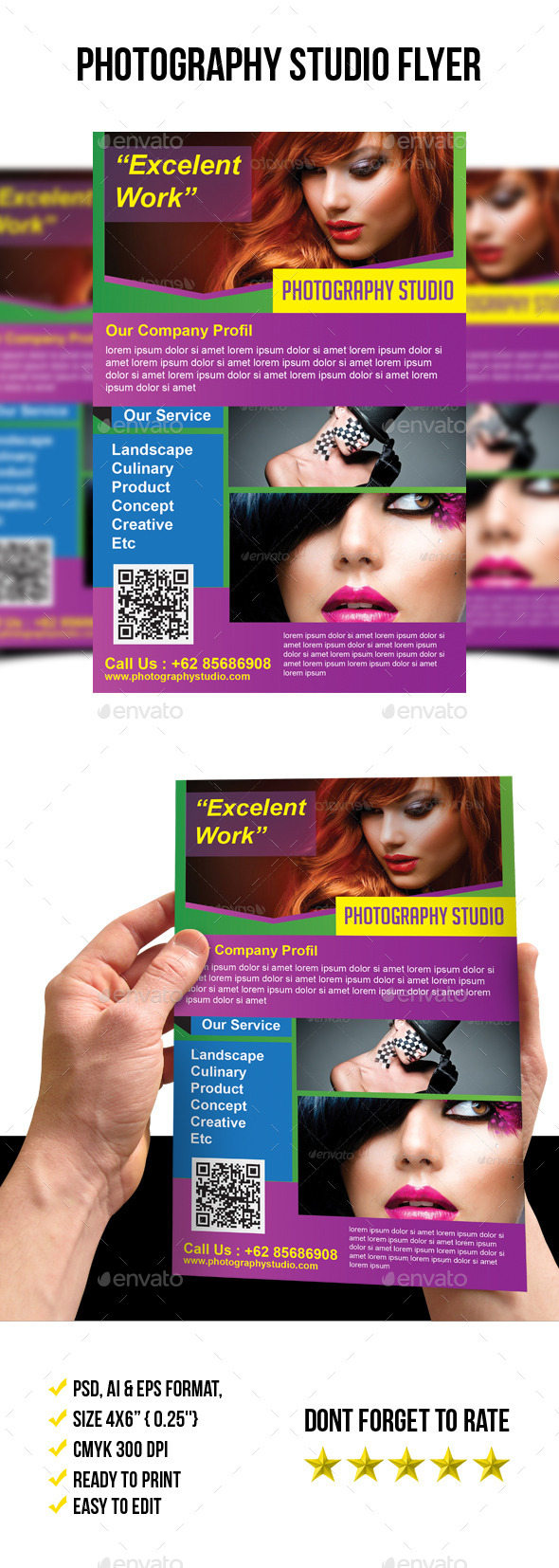 Photography Studio Flyer Template - Corporate Brochures