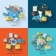 Logistic Icons Set Flat - GraphicRiver Item for Sale
