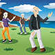 Senior People Exercising Tai-Chi Outdoor - GraphicRiver Item for Sale
