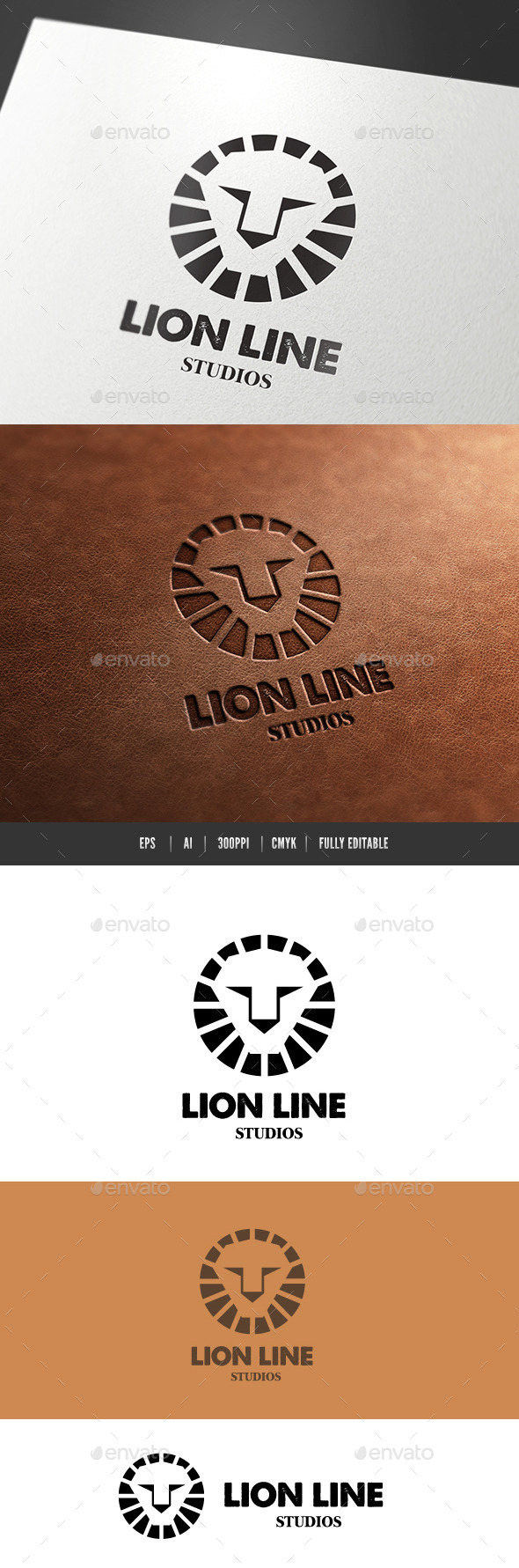 GraphicRiver Lion Line 9615766