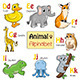 Alphabet Animals from D to K - GraphicRiver Item for Sale