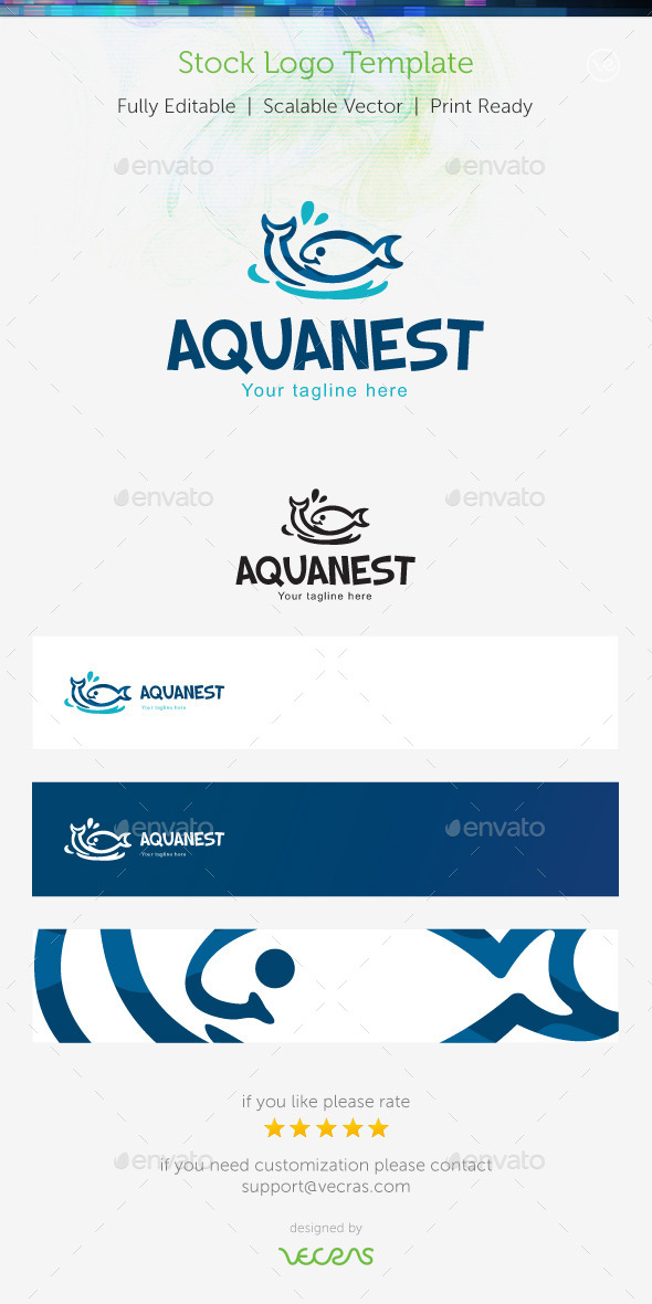 GraphicRiver Aquanest Stock Logo Template 9615772