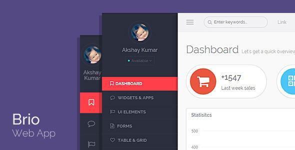 ThemeForest Brio Web App Bootstrap Admin Template & Angular 9529051
