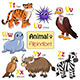Alphabet Animals from T to Z - GraphicRiver Item for Sale