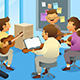 Adults in a Guitar Class - GraphicRiver Item for Sale