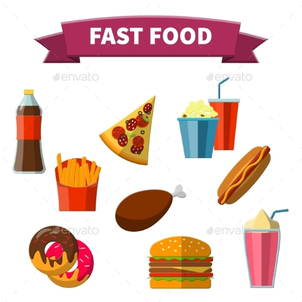GraphicRiver Fast Food Icon 9615916