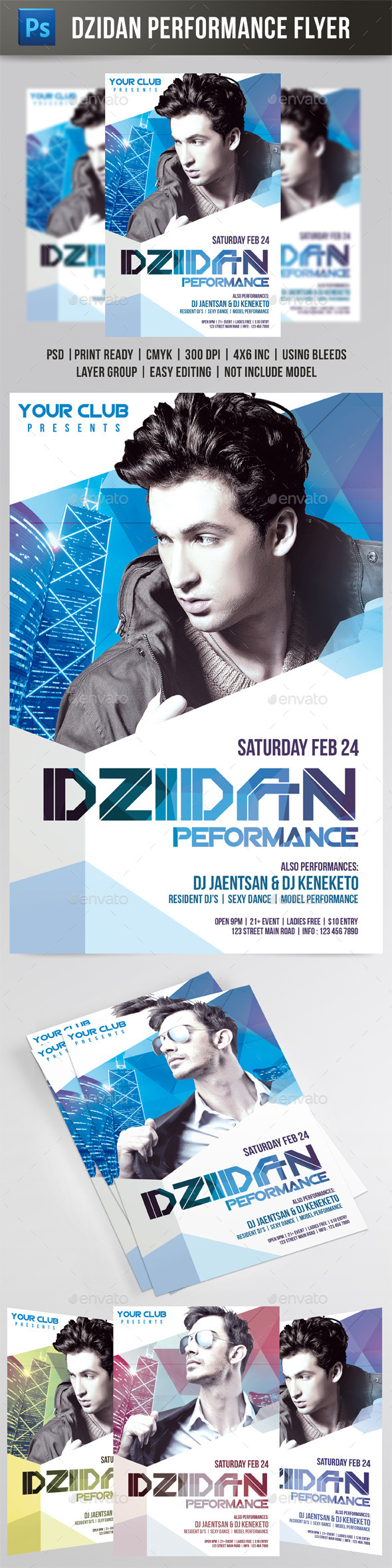 GraphicRiver Dzidan Performance Flyer 9615947