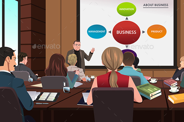 GraphicRiver Business People in a Seminar 9616029