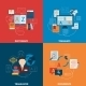 Translation and Dictionary Flat Icons Composition - GraphicRiver Item for Sale