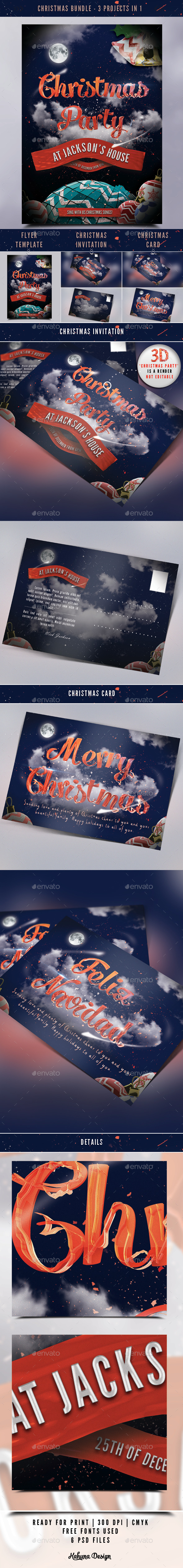 GraphicRiver Christmas Bundle 9616092