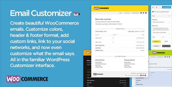 Email Customizer for WooCommerce - CodeCanyon Item for Sale