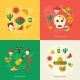 Mexico Flat Icons Set - GraphicRiver Item for Sale