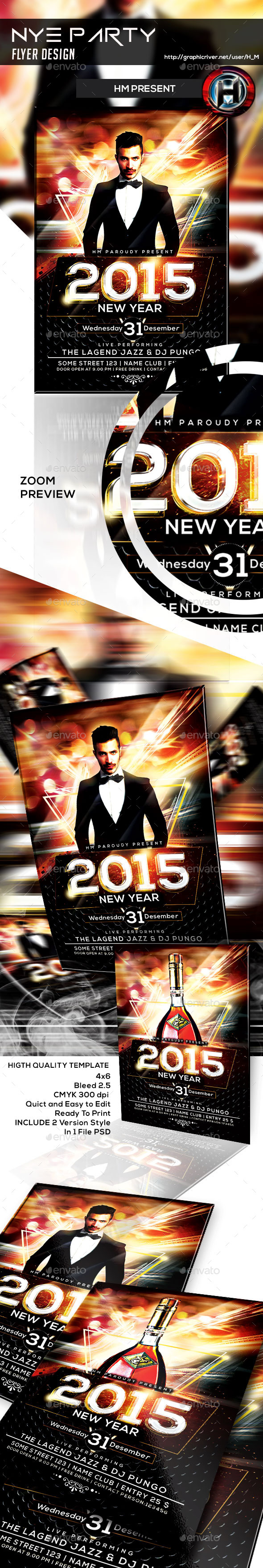GraphicRiver NYE Party Flyer Design 9616107