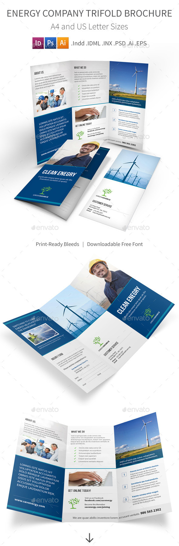 GraphicRiver Energy Company Trifold Brochure 9616114