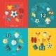 Soccer Icons Flat - GraphicRiver Item for Sale