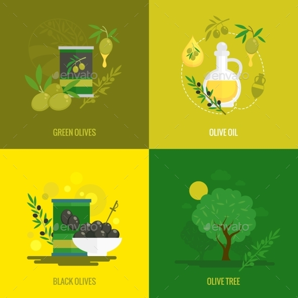 GraphicRiver Olives Mini Poster Set 9616182