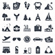 Travel icons: vector set. - GraphicRiver Item for Sale