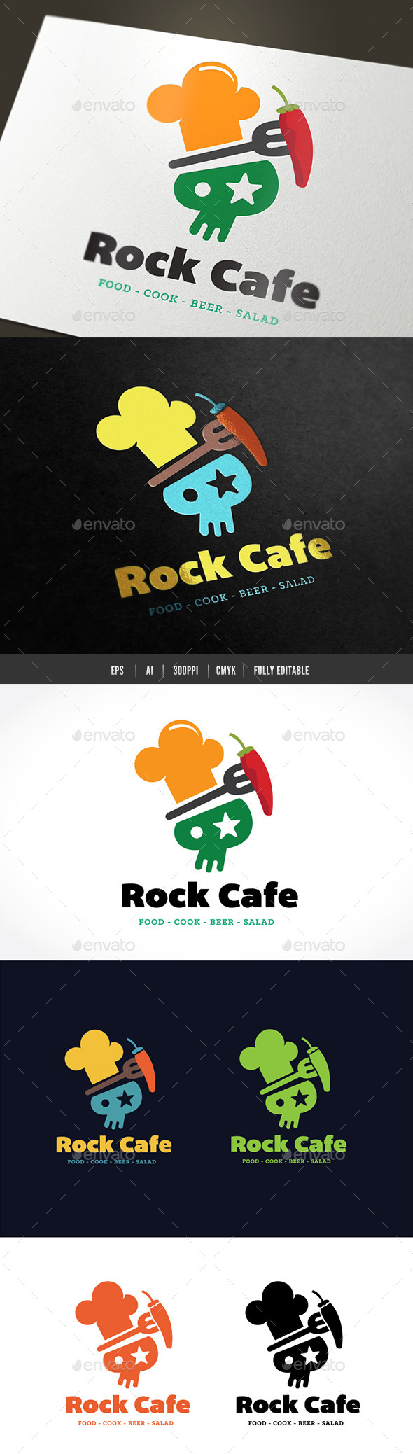 GraphicRiver Rock Cafe 9616325