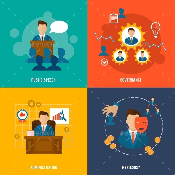 GraphicRiver Executive Icons Flat 9616329