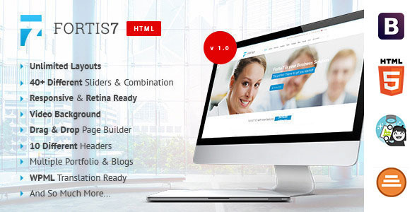 ThemeForest Fortis7 Multipurpose Business Template 9563689