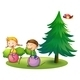 Kids Playing with a Bouncing Balloons - GraphicRiver Item for Sale