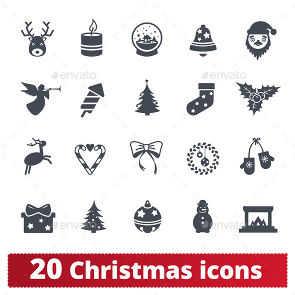 GraphicRiver Christmas icons set 9616361