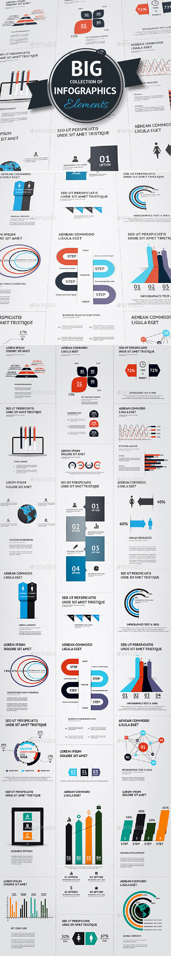 GraphicRiver Big Set of Infographic Elements 9616373
