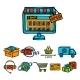 Online Shopping Decorative Set - GraphicRiver Item for Sale