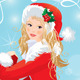 Blond Pin Up Christmas Girl - GraphicRiver Item for Sale