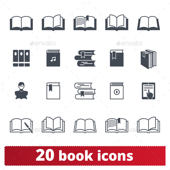 GraphicRiver 20 Book icons 9616416
