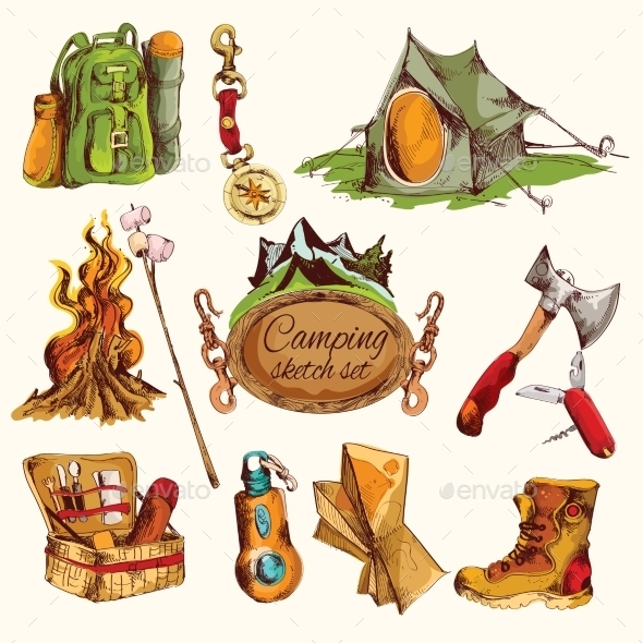 GraphicRiver Camping Elements 9616455