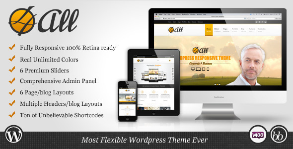 4ALL - Responsive Multi-Purpose Theme - Business Corporate