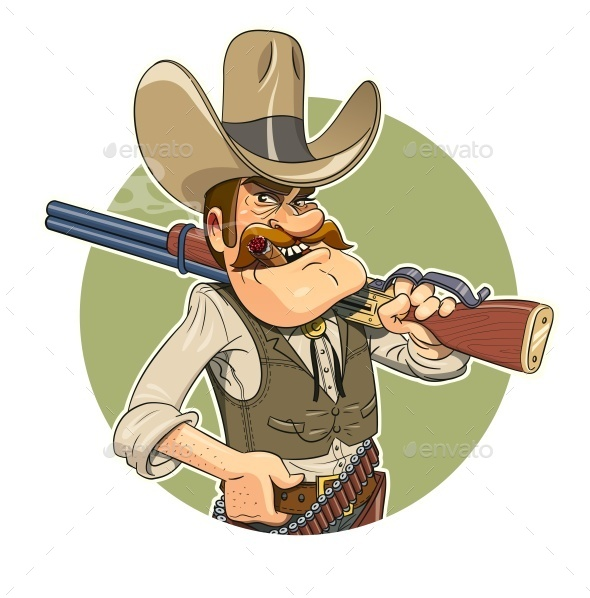 GraphicRiver Cowboy with Gun 9616539