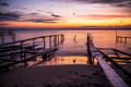 Sunset Over the Sea and the Fishing Pier - PhotoDune Item for Sale