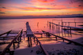 Colorful Sunset and the Fishing Pier - PhotoDune Item for Sale