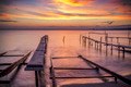 Fishing pier in sea - PhotoDune Item for Sale