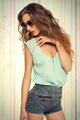 trendy woman with sunglasses - PhotoDune Item for Sale