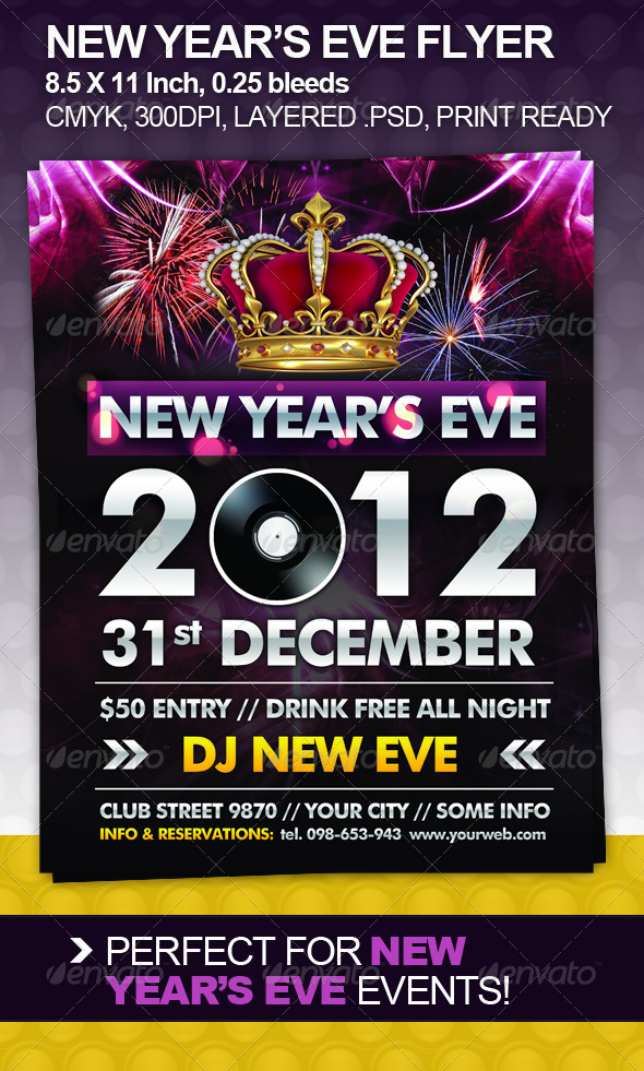 New Year's Eve Flyer - Clubs & Parties Events