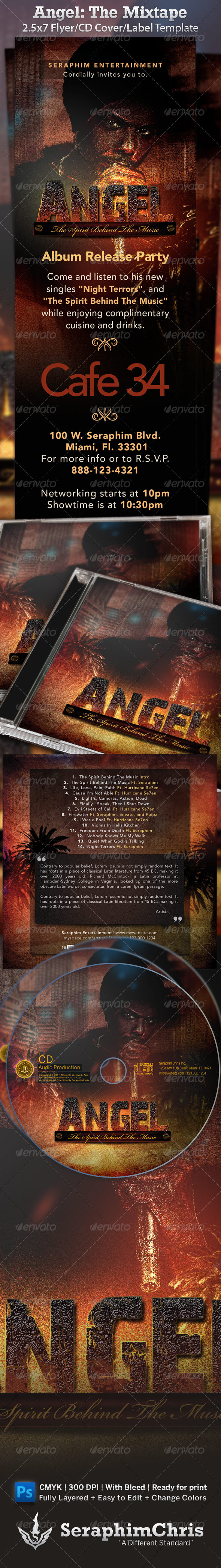 GraphicRiver Mixtape Album Flyer Angel The Spirit 976770