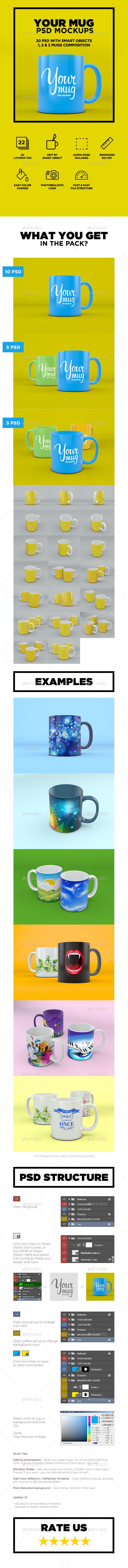 Your Mug PSD Mockup