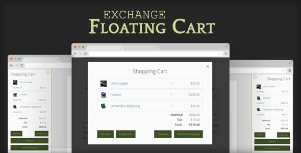 CodeCanyon Exchange Floating Cart 9617723