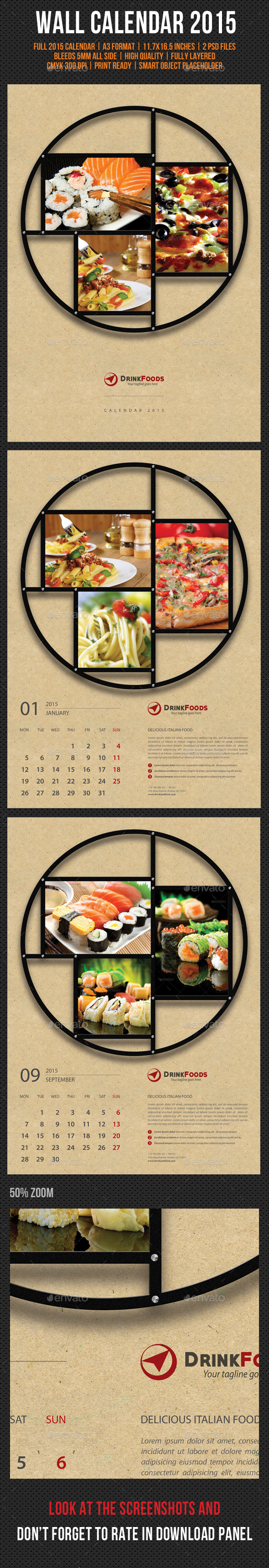 GraphicRiver Wall Calendar A3 2015 V02 9617802