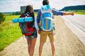Hitchhiking couple - PhotoDune Item for Sale