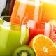 Glasses of assorted fruit juice. Detox diet - PhotoDune Item for Sale
