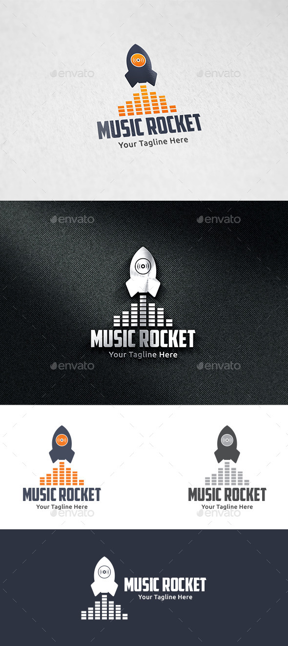 GraphicRiver Music Rocket 9618219