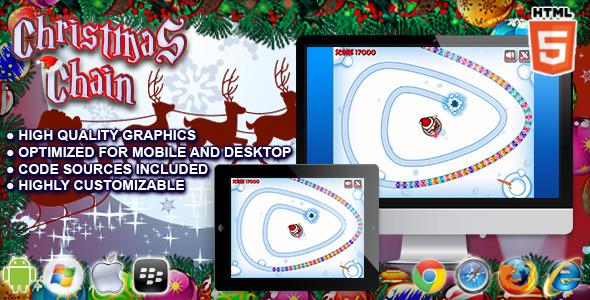 Christmas Chain HTML5 Game