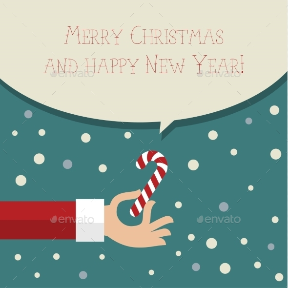 GraphicRiver Merry Christmass Flat Design 9619008