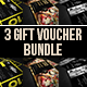Creative Gift Vouchers Bundle 01 - GraphicRiver Item for Sale